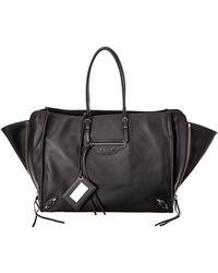 Balenciaga - Papier A4 Zip Around Leather Tote - Lyst