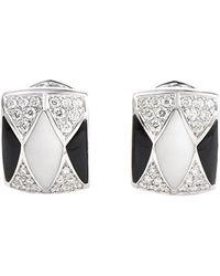 Heritage - Oro Trend 18k 1.30 Ct. Tw. Diamond & Gemstone Drop Earrings - Lyst