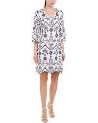Sail To Sable - Eyelet Embroidered Bell-sleeve Dress - Lyst