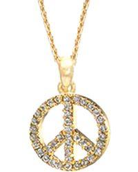 Tai Jewellery Cz Peace Symbol Necklace