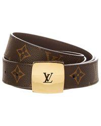 Louis Vuitton - Monogram Canvas Ceinture Belt, Size 100 - Lyst