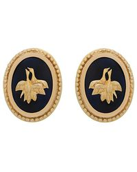 Heritage - Lalaounis 18k Yellow Gold Greek Earrings - Lyst