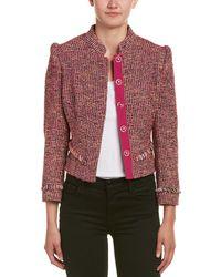 Karen Millen - Tweed Wool-blend Jacket - Lyst