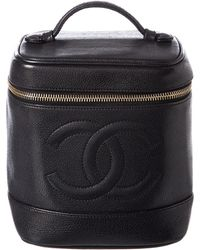 Chanel - Black Caviar Leather Vertical Cosmetic Case - Lyst
