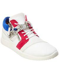 Giuseppe Zanotti - Leather & Suede Sneaker - Lyst
