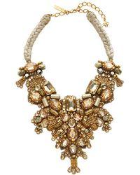 Oscar de la Renta - Embellished Braided Bib Necklace - Lyst