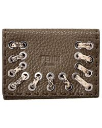 Fendi - Leather Card Case - Lyst