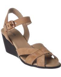 Arche - Egowa Nubuck Wedge Sandal - Lyst