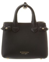 Burberry - Baby Banner House Check & Leather Tote - Lyst