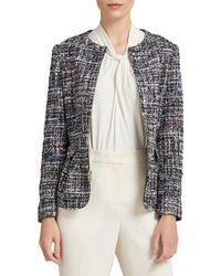Donna Karan - Collarless Full-zip Jacket - Lyst