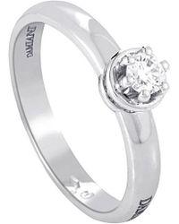 Damiani - 18k 0.19 Ct. Tw. Diamond Engagement Ring - Lyst