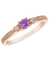 Le Vian - ? Stackable 14k Rose Gold 0.33 Ct. Tw. Diamond & Amethyst Ring - Lyst