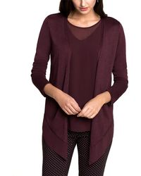 NIC+ZOE - Nic+zoe Paired Up Silk-blend Cardy - Lyst