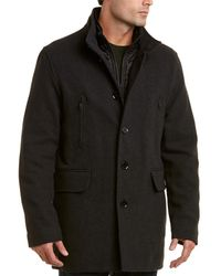 Cole Haan Wool-blend Twill Coat
