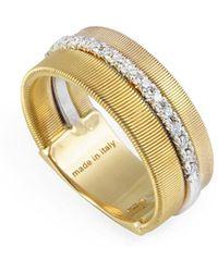 Marco Bicego - Masai 18k Two-tone 0.13 Ct. Tw. Diamond Ring - Lyst