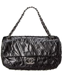Chanel - Black Lambskin Leather Medium Twisted Flap Bag - Lyst