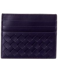a78b1cad8491e Bottega Veneta - Intrecciato Leather Flat Card Case - Lyst
