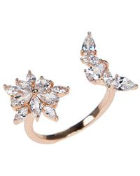 CZ by Kenneth Jay Lane - Rose Gold Plated Ring - Lyst