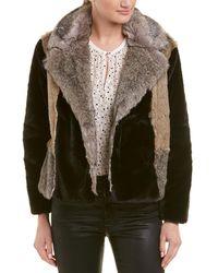 Rebecca Taylor - Long-sleeve Faux Fur Jacket - Lyst
