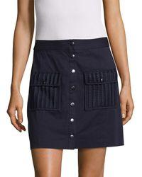 beaf17fda2 Zac Zac Posen Gabriella Pebble Jacquard Skirt in Gray - Lyst