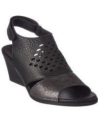 Arche - Ritaki Leather Wedge Sandal - Lyst