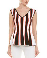 809f8d2e117f0 Lyst - Carolina Herrera Silk Button Up Blouse in Black