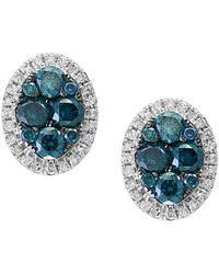 Effy - Fine Jewellery 14k 0.99 Ct. Tw. Diamond Studs - Lyst
