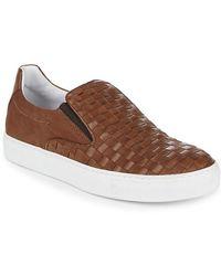 Bacco Bucci - Woven Leather Sneaker - Lyst
