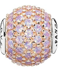 PANDORA - Love Essence Collection 14k Rose Gold & Silver Crystal Charm - Lyst