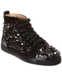Christian Louboutin - Louis Flat Mixed Fabric Trainers - Lyst