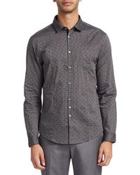 John Varvatos - Collection Floral Print Sports Shirt - Lyst