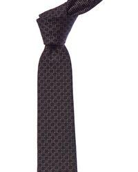 Givenchy - Black Check Silk Tie - Lyst