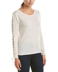 Quinn - Qi Cashmere Lace-up Sleeve Jumper - Lyst