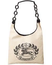 Burberry - Medium Archive Logo Canvas & Leather Shoulder Bag - Lyst