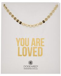 Dogeared - You Are Loved 14k Over Silver Flat Disc Necklace - Lyst
