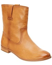 Frye - Anna Short Leather Boot - Lyst