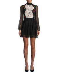 Millie Mackintosh - Mesh Flare Dress - Lyst