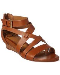 Söfft - Richmond Leather Wedge Sandal - Lyst