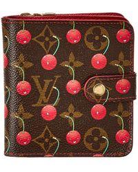 Louis Vuitton - Limited Edition Takashi Murakami Cherry Blossom Monogram Canvas Zippy Compact Wallet - Lyst