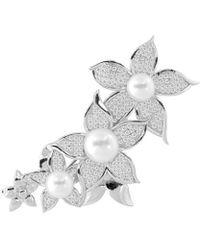 Splendid - Plated 8-11mm Freshwater Pearl Brooch - Lyst