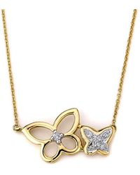 Samuel B Fine Jewelry - Samuel B. Fine Jewelry 14k Diamond Butterfly Necklace - Lyst