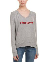 Peace Love World - Womens Comfy Sweatshirt, Xs/s - Lyst