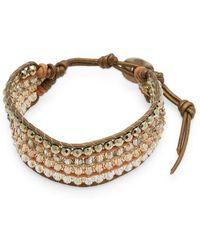 Chan Luu - Metallic Straps & Beads Bracelet - Lyst