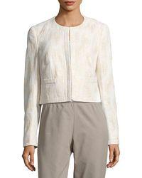 Basler - Textured Jacket - Lyst