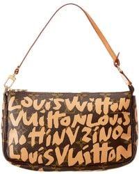 Louis Vuitton - Limited Edition Stephen Sprouse Beige Graffiti Monogram Canvas Pochette Accessoires - Lyst