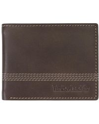 Timberland - Genuine Leather Cloudy Quad Billfold - Lyst