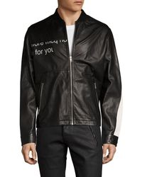 McQ - Mcq Leather Racer Jacket - Lyst