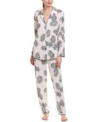 Midnight By Carole Hochman - 2pc Pyjama Pant Set - Lyst