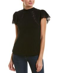 Rebecca Taylor - Lace-trim Wool-blend Top - Lyst