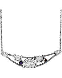 Charriol - Kimono Stainless Steel 0.45 Ct. Tw. Gemstone Necklace - Lyst